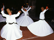 Sufi holy men - whirling dervishes, during the Sema devotion