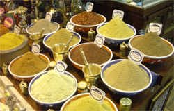 The Egyptian market in Istanbul thick with the heady aroma of almost any spice you can imagine