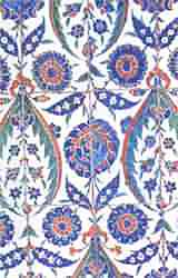 Iznik tiles, one of Turkey's artistic treasures.
