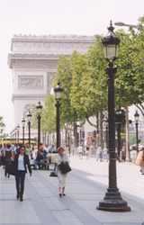 Paris with the Arc de Triumph and Champs Elysee