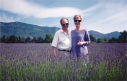 Robbi and Ronan from Dayton Ohio enjoying the lavender fields of the Haute Vaucluse