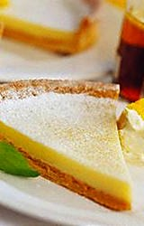 Delicious classic French dessert - tarte citron